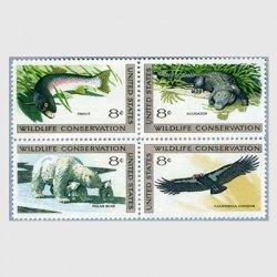 アメリカ 1971年野生動物保護4種ワニetc