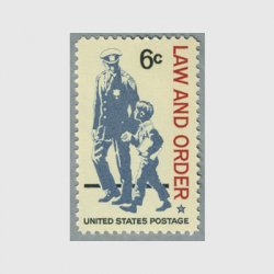 アメリカ 1968年法と秩序警察と少年