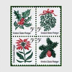 アメリカ 1964年クリスマスヒイラギ4種