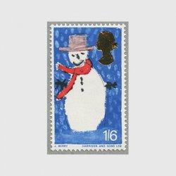 イギリス 1966年クリスマス雪だるま