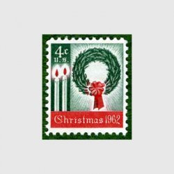 アメリカ 1962年クリスマスろうそくとリース
