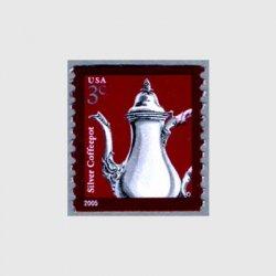 アメリカ 2005年シルバーコーヒーポット・コイル