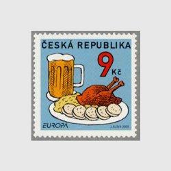 チェコ共和国 2005年ヨーロッパ切手食チキンとビール