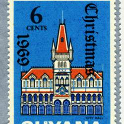 ガイアナ 1969年クリスマス切手4種