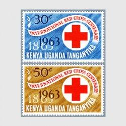 ケニア・ウガンダ・タンガニカ 1963年赤十字100年2種