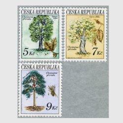 チェコ共和国 1993年樹と種子3種