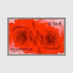 オーストリア 2002年ラブ切手バラ