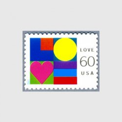 アメリカ 2002年愛の切手シール式