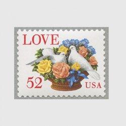 アメリカ 1994年LOVE かごのバラとハト