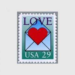 アメリカ 1992年封筒とハート