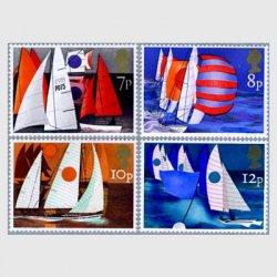 イギリス 1975年ヨットの切手4種