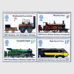 イギリス 1975年鉄道150年4種