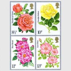イギリス 1976年王室バラ協会100年4種
