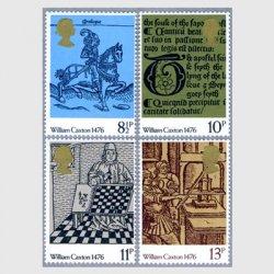 イギリス 1976年イギリスの印刷500年4種