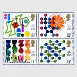 イギリス 1977年王立化学協会100年4種
