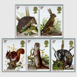 イギリス 1977年イギリスの野生動物5種