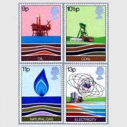 イギリス 1978年エネルギー切手4種
