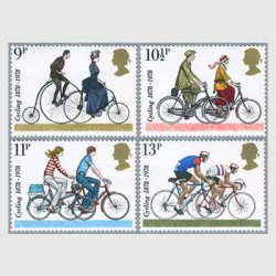 イギリス 1978年自転車の切手4種