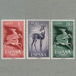 スペイン領サハラ 1961年ガゼル3種