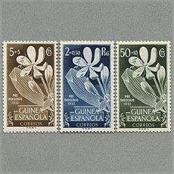 スペイン領ギニア 1952年ユリ3種