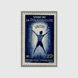 フランス 1959年松葉杖を持った少年