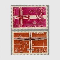 フランス 1962年グライダーと遊覧2種