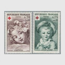フランス 1962年赤十字切手2種