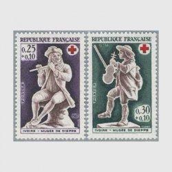 フランス 1967年赤十字切手2種