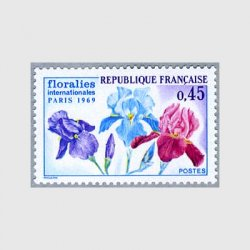 フランス 1969年パリ国際花祭りアイリス