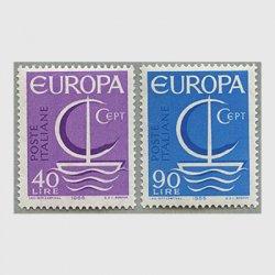 イタリア 1966年ヨーロッパ切手2種