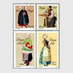 スウェーデン 1979年民族衣装4種