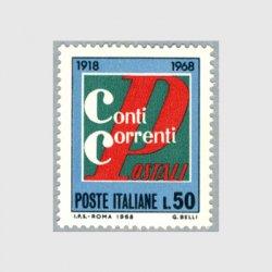 イタリア 1968年郵便当座預金50年