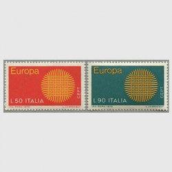 イタリア 1970年ヨーロッパ切手2種