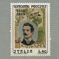 イタリア 1974年作曲家プッチーニ
