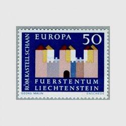 リヒテンシュタイン 1964年Schaanのローマ時代の城