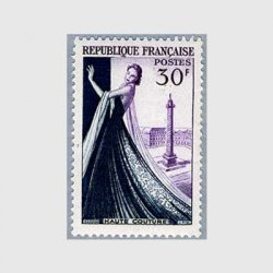 フランス 1953年ドレスを着た女性
