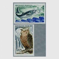 フランス 1972年サケとワシミミズク2種