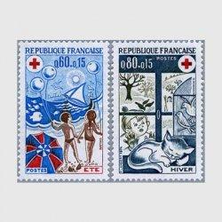 フランス 1974年赤十字切手2種