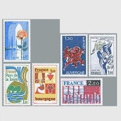 フランス 1975年地方シリーズ6種