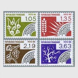 フランス 1983年プリキャンセル四季4種