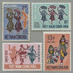 南ベトナム 1971年民俗楽器と踊り4種 ※少難品