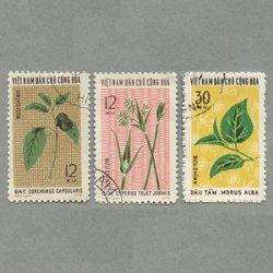 ベトナム 1974年産業用植物3種使用済み