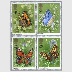 イギリス 1981年蝶4種