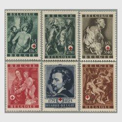 ベルギー 1944年赤十字6種※少シミ