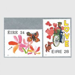 アイルランド 1987年Love2種 ※少難品