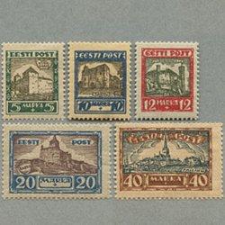 エストニア 1927年城と風景5種