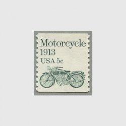 アメリカ 1983年輸送機関 額面「c」付き「オートバイ」