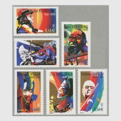 フランス 2002年著名人シリーズ(ジャズミュージシャン)6種