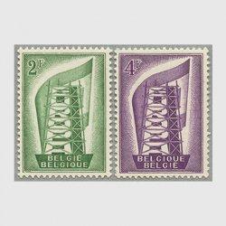ベルギー 1956年ヨーロッパ切手2種
