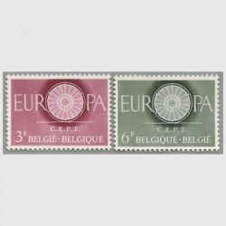 ベルギー 1960年ヨーロッパ切手2種